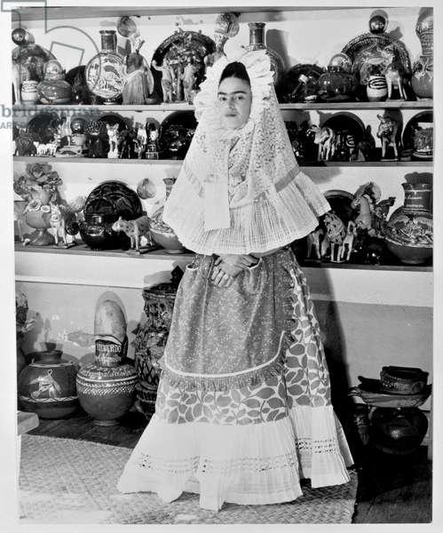 Frida Kahlo in Tehuana Costume, 1940 (gelatin silver print)