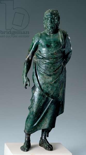 Male statuette, Hellenistic, 150-50 BC (bronze)