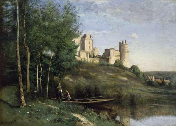 Ruins of the Chateau de Pierrefonds, c.1830-35 (oil on canvas)
