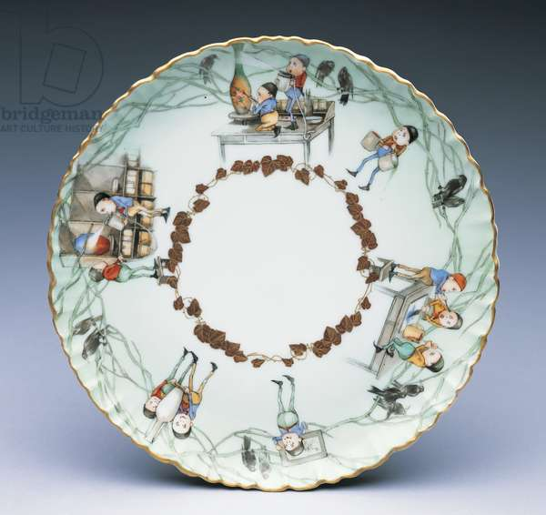 Plate: Decorating Pottery at Rookwood, 1887-98 (porcelain)