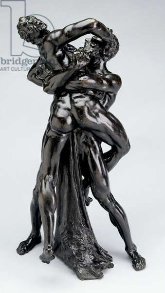 Hercules and Antaeus, c.1625 (cast bronze)