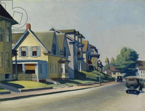 Sun on Prospect Street (Gloucester, Massachusetts), 1934 (oil on canvas)