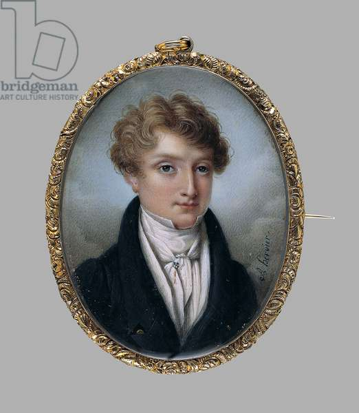 A Young Man with the initials J.L.F., c.1830 (w/c & graphite on ivory)
