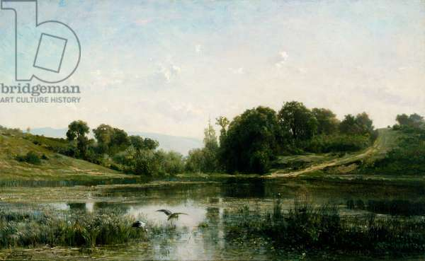 The pond at Gylieu, 1853 (oil on canvas)