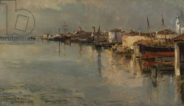 Venice, 1877 (oil on canvas mounted on fiberboard)