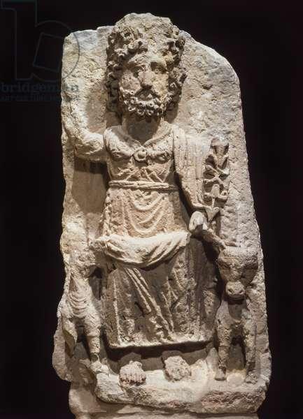 Cult Statue of Qaws, Transjordan/Israel (sandstone)