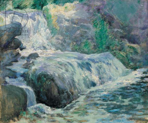 Waterfall, 1895-99 (oil on canvas)