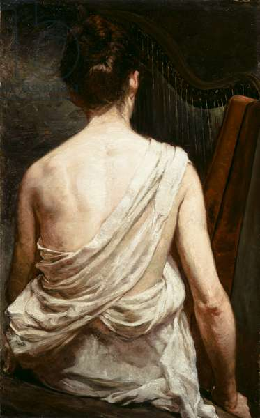Woman with a Harp, 1887 (oil on canvas)