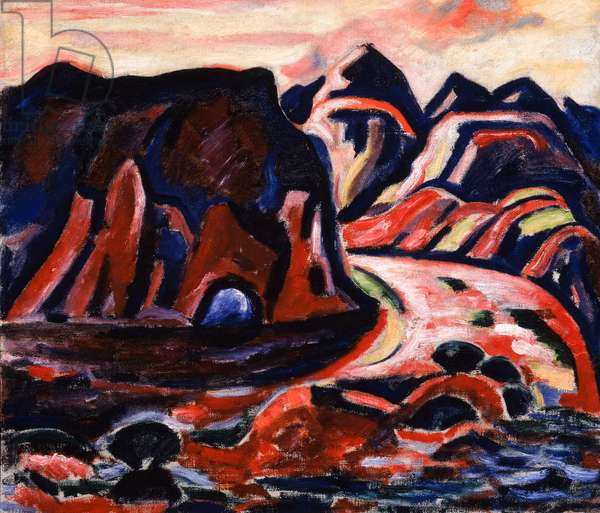 Valley Road, 1919-20 (oil on canvas)