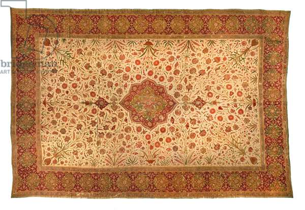 Summer carpet with central medallion (silk)