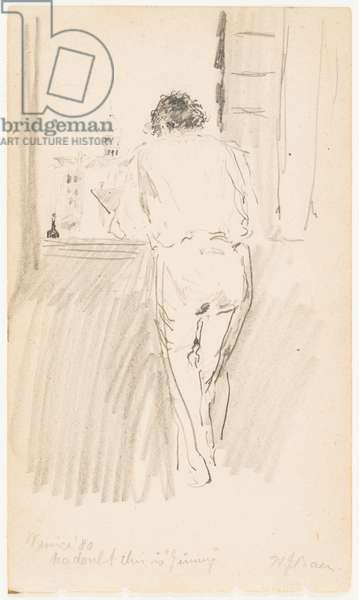 No Doubt This Is 'Jimmy', Venice, 1880 (pencil on paper)