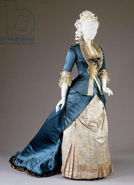 Reception dress: bodice and skirt, 1877-78 (silk)