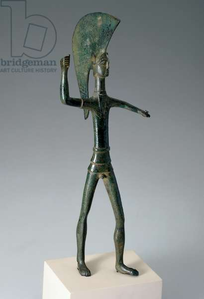 Warrior statuette found in Umbria, Italy (cast bronze)