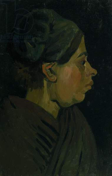 Head of a Peasant Woman, c.1884 (oil on canvas on wood panel)