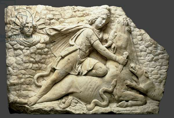 Mithras slaying the bull, c.150-200 (limestone)