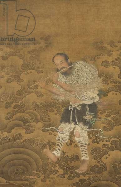 Daoist Immortal Han Xiangzu, late 15th century (ink & colour on silk)