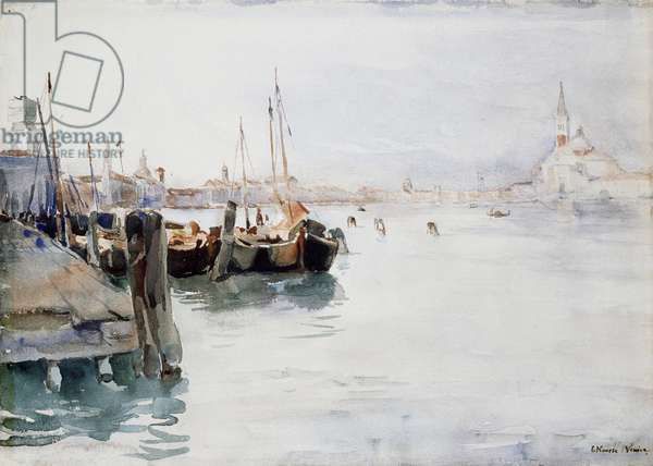 Venice, 1891 (w/c with pencil on paper)
