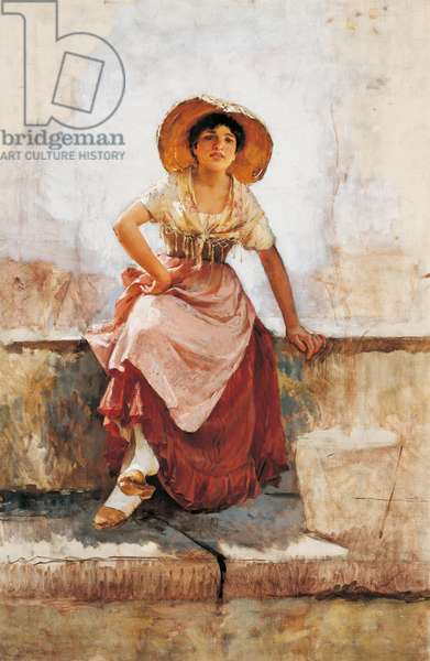 Florentine Flower Girl, c.1886 (oil on canvas)