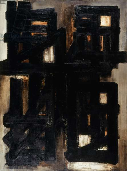 Abstraction, 1954 (oil on canvas)