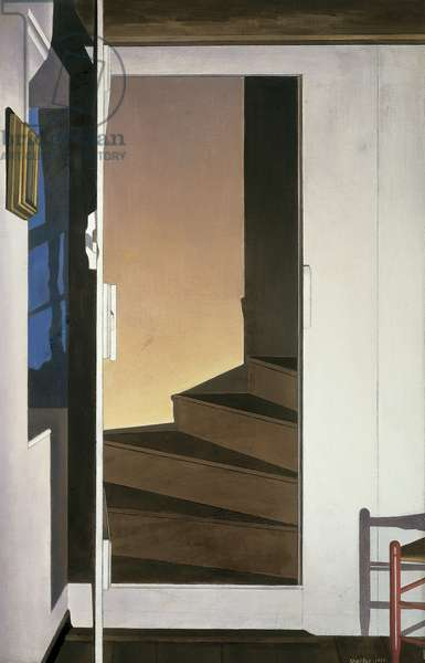 The Upstairs, 1938 (oil on canvas)