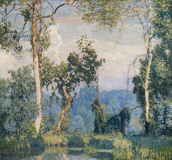 Hawk's Nest, 1917 (oil on canvas)