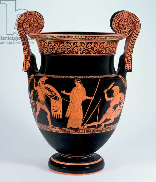 Volute krater, c.460-50 BC (earthenware and slip)