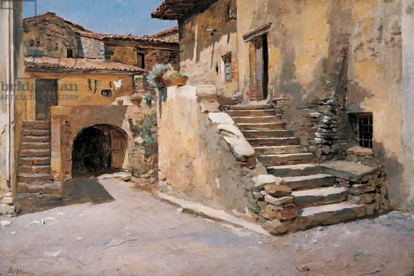 Italian Courtyard, 1886 (oil on canvas)