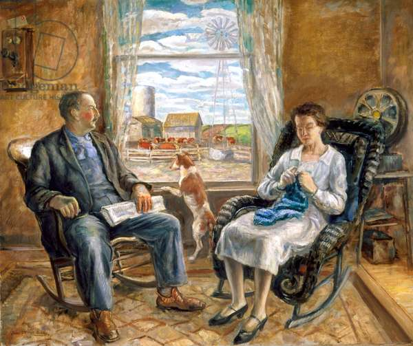 The Old Folks, 1929 (oil on canvas)
