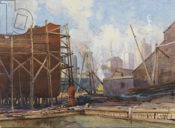Toronto Shipbuilding, 1918 (w/c on paper)
