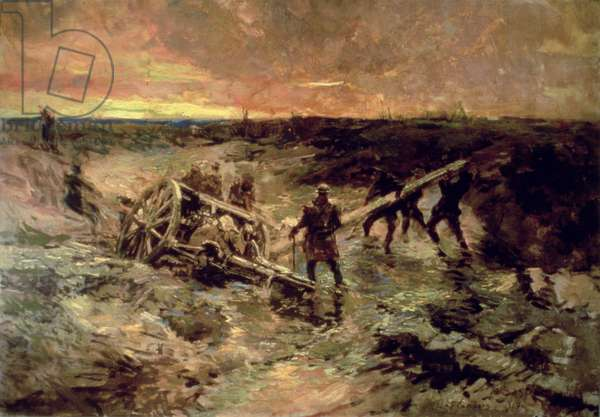 Canadian Gunners in the Mud, Passchendaele, 1917 (oil on canvas)