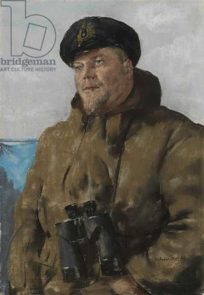Lieutenant Commander W. E. S. Briggs, 1939-45 (pastel on paper)