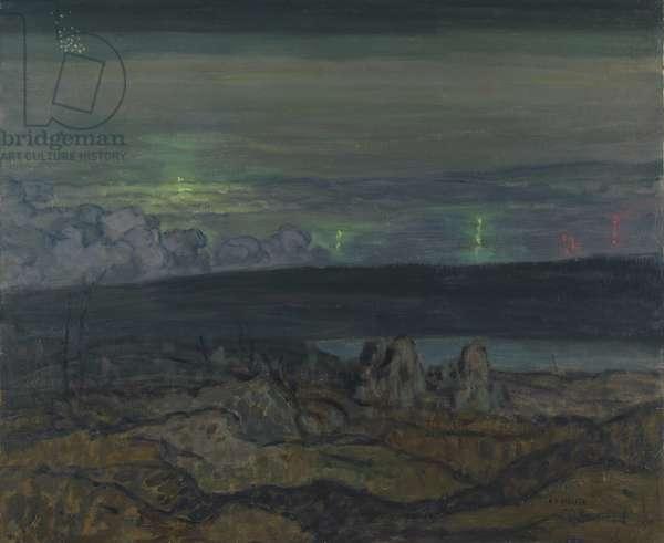 Gas Attack, Liévin, 1918 (oil on canvas)