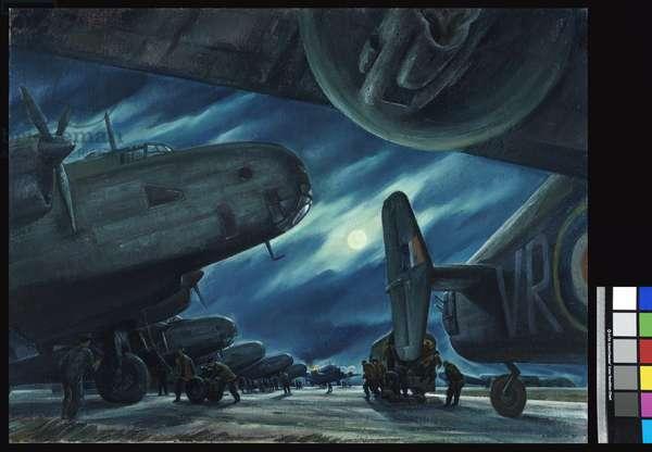 Marshalling of the Hallies, 1947 (oil on canvas)
