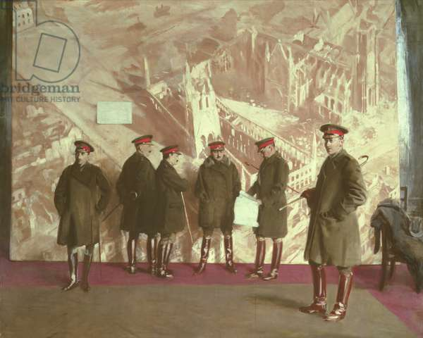 Canadian Headquarters Staff, 1918 (oil on canvas)