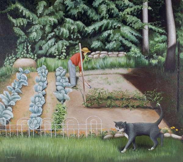 Shutesbury Garden, 1993 (oil on canvas)