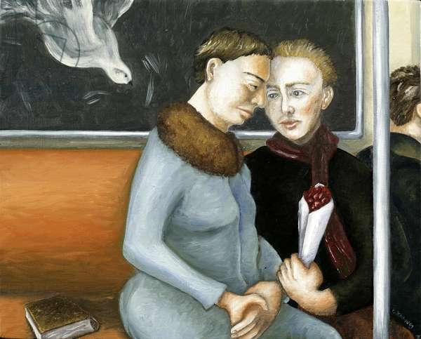 Subway Annunciation, 2006 (oil on canvas)