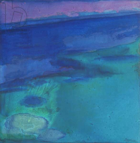 Cyanae Blue, 1997 (oil and glaze on gesso board)