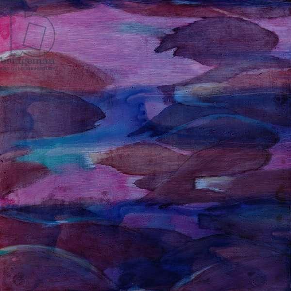 Purple Parrots VI, 2000 (oil on gesso)