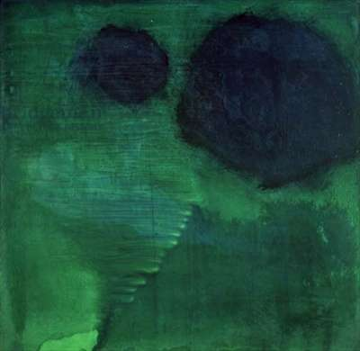Guernsey Green, 1997 (oil and glaze on gesso board)