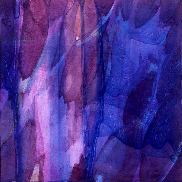 Purple Parrots IV, 2000 (oil on gesso)