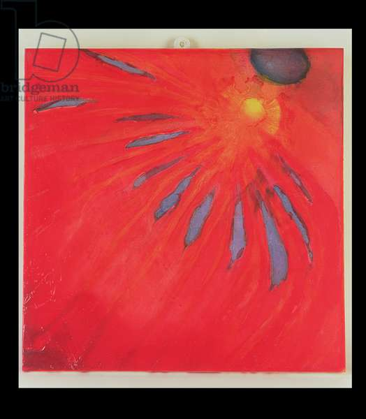 Fan Fire, 1997 (oil and glaze on gesso board)