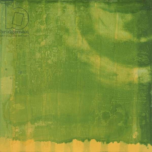 Bluerine Green, 1997 (oil and glaze on gesso board)