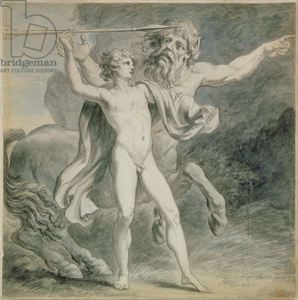 The Education of Achilles, 1776 (pen & ink with grey wash on paper)