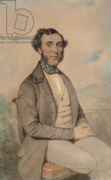 Portrait of a Seated Gentleman, 1851 (pastel on paper)