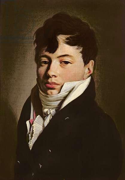 Portrait of a Dandy with a White Cravat, c.1815 (oil on canvas)