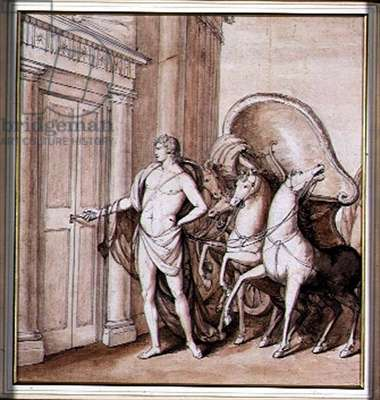 Apollo and his Chariot, 1771 (pen & ink with w/c on paper)