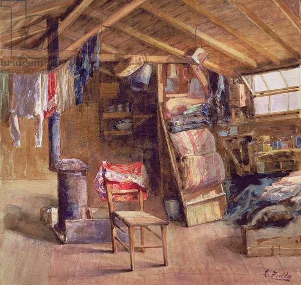 A Garret Interior, c.1860 (w/c on paper)