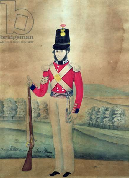Sergeant, British Army, c.1815 (w/c on paper)