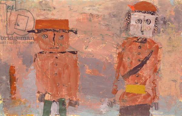 A Bride and Groom in the Autumn of their Lives, 1930 (oil on paper)
