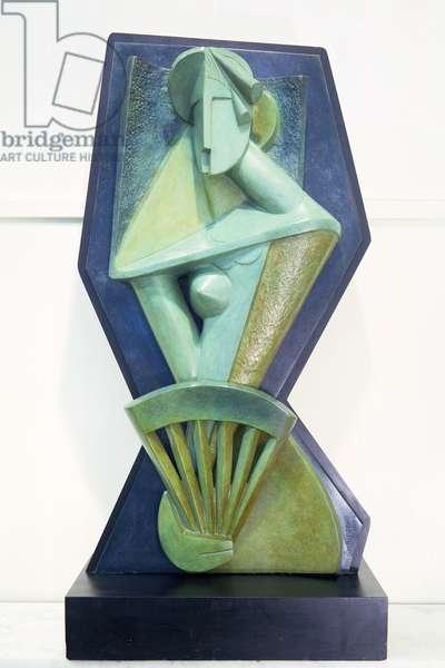 Woman with a Fan by Alexander Archipenko (1887-1964) 1914
